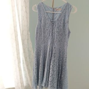 Altar'd State powder blue lace dress